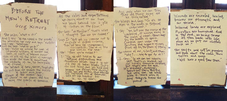 """Before The Men's Retreat"" by Greg Kimura"